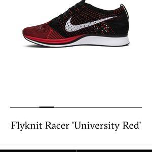 NIKE UNIVERSITY RED FLYKNIT RACER